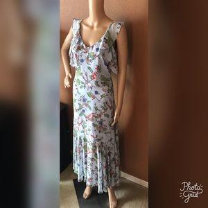 SOLD! Nanette Lepore Floral Ruffle Flounce Dress